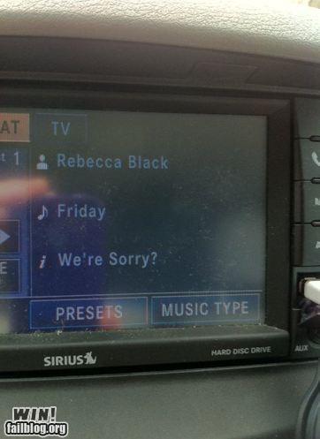 apologies,Memes,radio,Rebecca Black