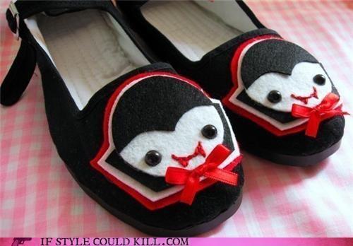 crazy shoes etsy flats vampires - 4614954752