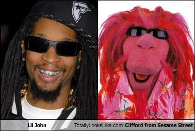 Lil John Totally Looks Like Clifford from Sesame Street