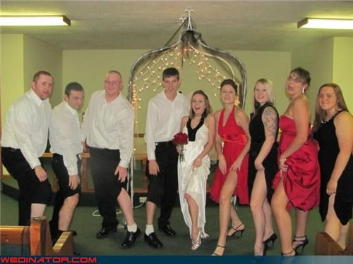 bride funny wedding photos groom nice legs wedding part - 4615446272