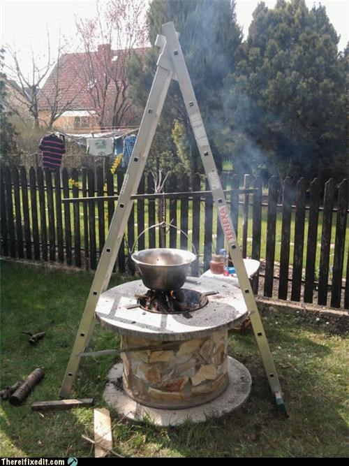 cooking,dual use,ladder