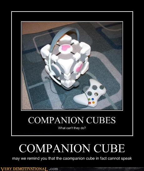 companion cube,hilarious,Portal,speak,xbox