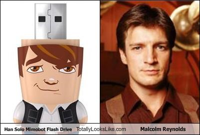 Firefly Hall of Fame Han Solo malcom reynolds nathan fillion sci fi star wars technology usb drive - 4615681024