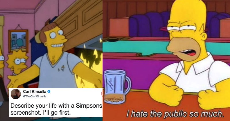 People summarize their lives sharing screenshots from The Simpsons, and the results are hilarious.