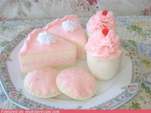 cake cookies dessert drinks felt whipped cream - 4616698624