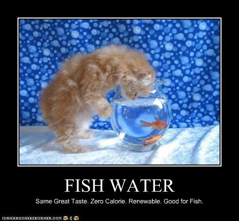 FISH WATER Same Great Taste. Zero Calorie. Renewable. Good for Fish.