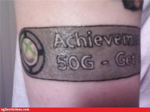 tattoos funny achievement unlocked - 4617436160