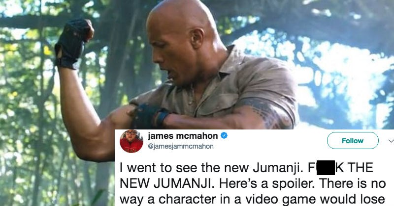 Dwayne The Rock Johnson destroys a guy trying to troll him over Jumanji logic on Twitter.