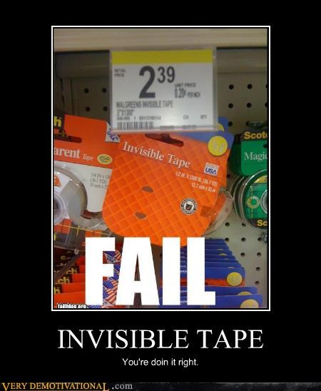 doing it right,gone,invisible,tape