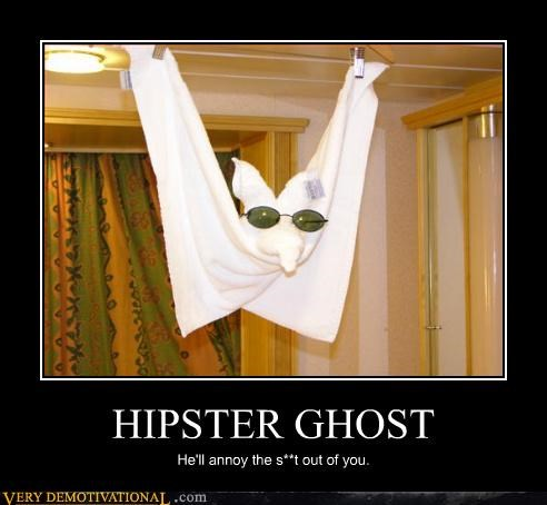 ghost glasses hipster towel wtf - 4618048000