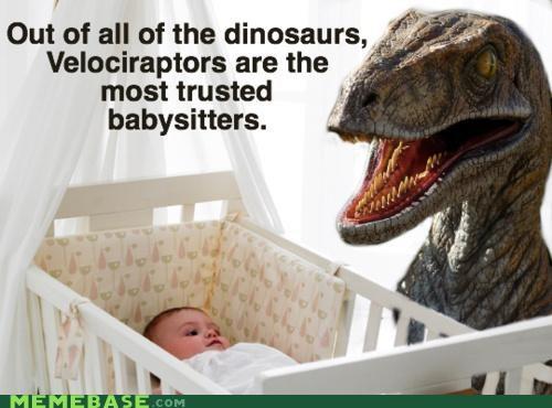 babysitter dinosaur velociraptor - 4618674432