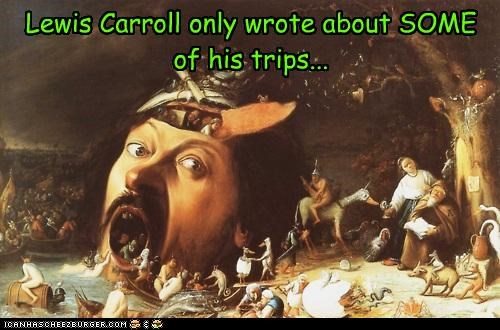 Lewis Carroll only wrote about SOME of his trips...