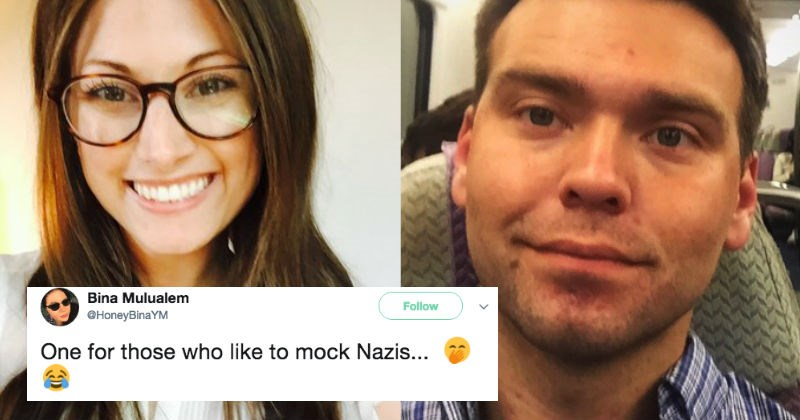 Alt-right Nazi conspiracy theorist gets exposed trying to cheat using a dating app.