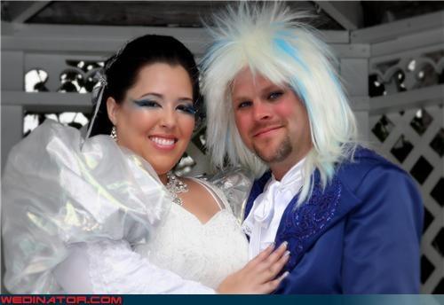 80s david bowie funny wedding photos labyrinth theme wedding