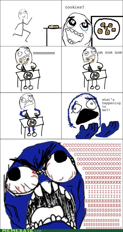 Cookie Monster,om nom nom,Rage Comics