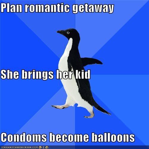 Balloons condoms kid socially awkward penguin - 4621093376