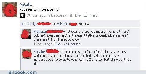 math,witty reply,yoga pants