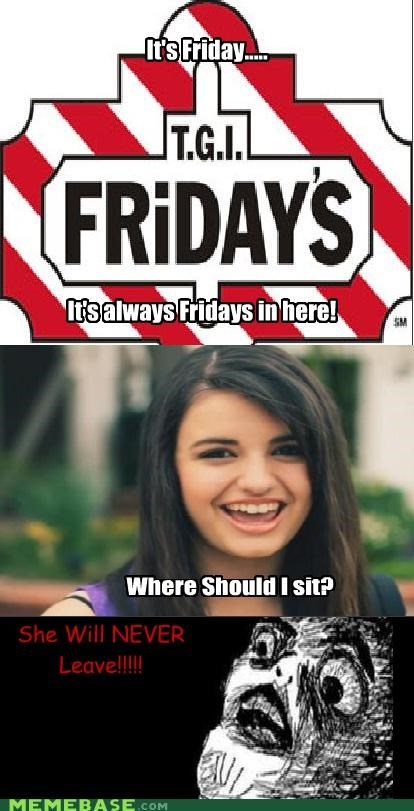 FRIDAY,Rebecca Black,restaurant