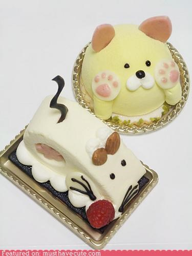 cake cat ears epicute face mouse paws tail - 4621306624