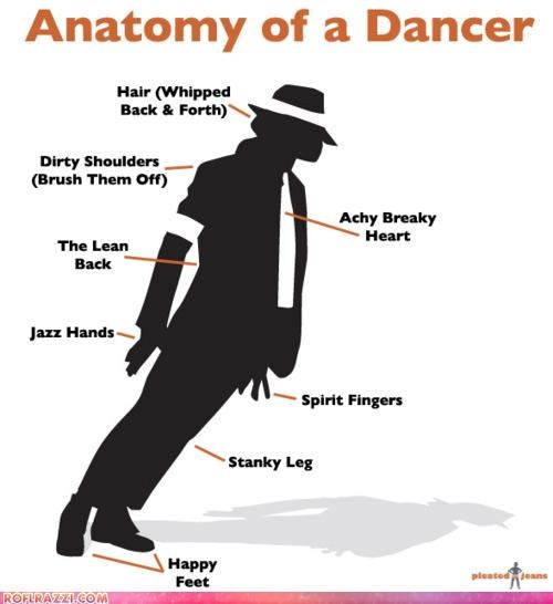 Anatomy Of A Dancer Pop Culture Funny Celebrity Pictures