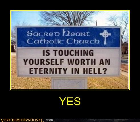 church hell masturbation sign yes - 4621765376