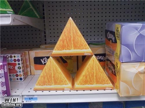 awesome at work kleenex nerdgasm triforce zelda