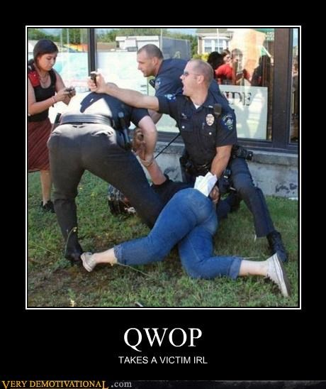 QWOP,real life,victim,video game