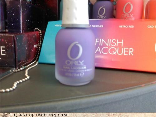 nail polish,o rly,purple