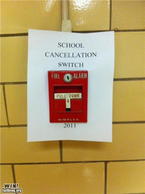 clever,fire alarm,school,signs