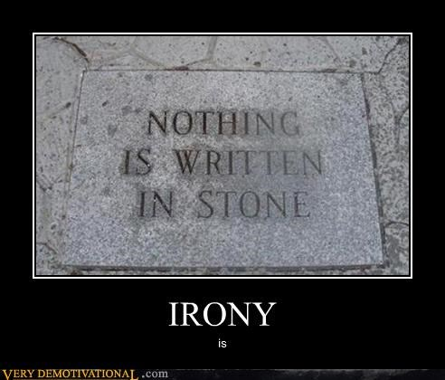 irony,stone,words written