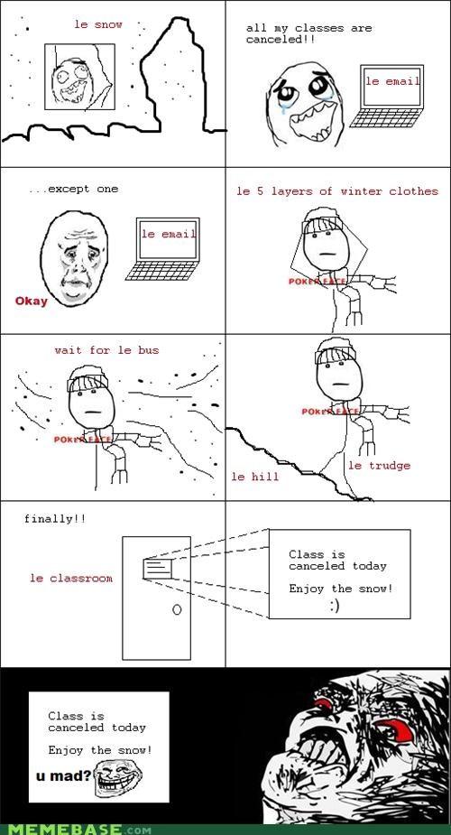 class,Memes,snow,trollface
