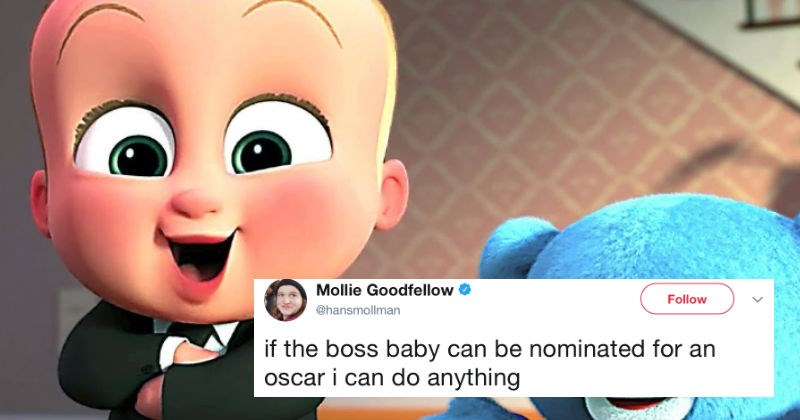 People react on Twitter to the news that Boss Baby got an Oscar nomination.