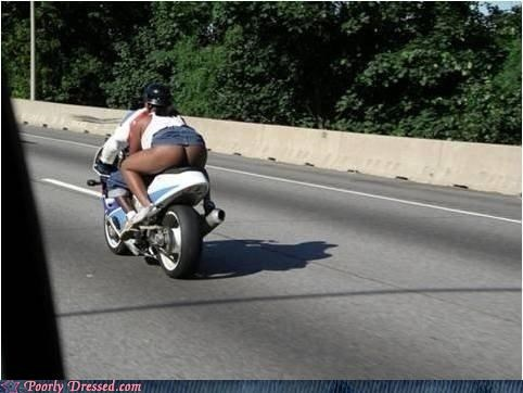 bad idea butt motorcycle ouch scary underwear