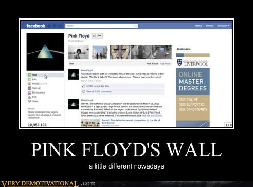 face book pink floyd wall wtf