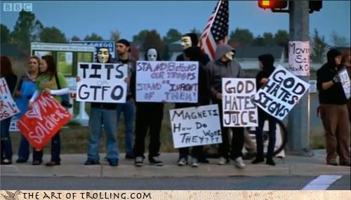church,god hates,IRL,signs,tatas,westboro
