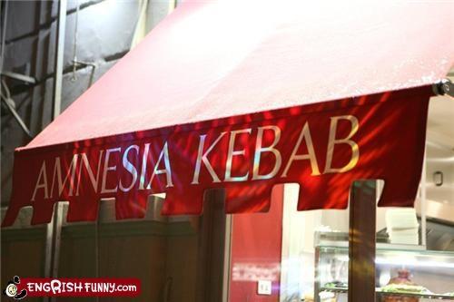 amnesia,forget,kebab,memory