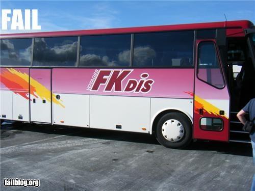 bus design failboat innuendo name oops poor planning - 4624018176