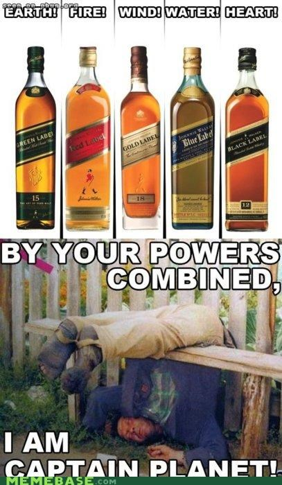 alcohol black label captain planet hero Memes sobriety - 4624294912