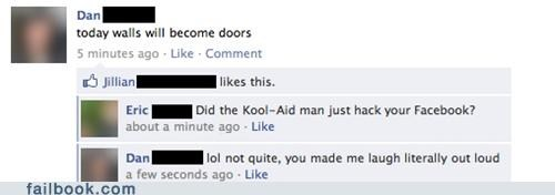 kool aid,lol,vaguebooking,witty reply