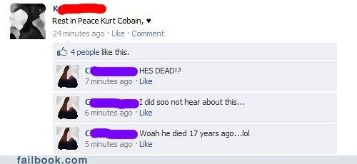 facepalm kurt cobain out of the loop