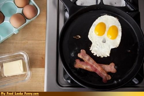 bacon,butter,crossbones,danger,deadly,eggs,skull