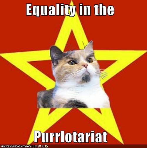 Lenin Cat purring revolution scratching underbelly