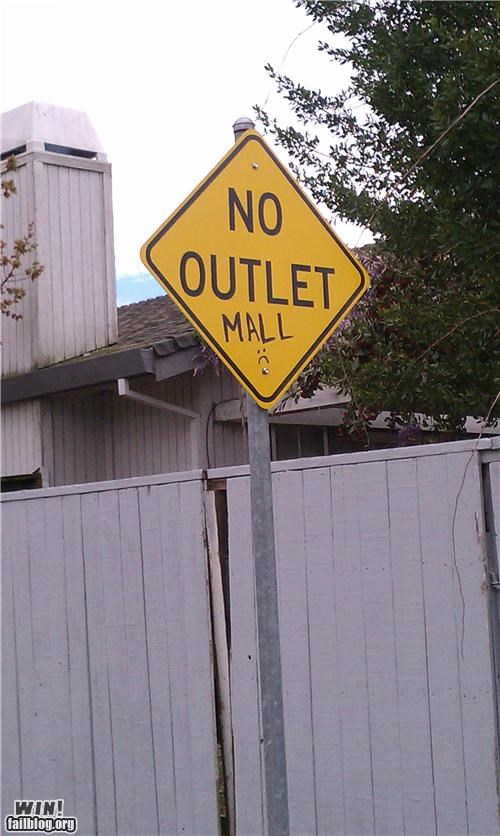no outlet malls
