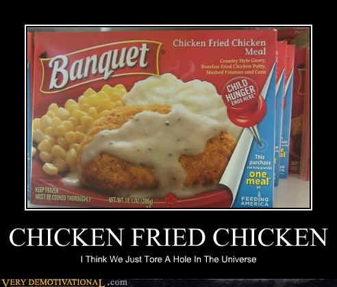chicken fried chicken destroyed meal universe