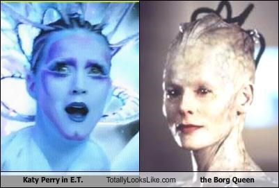 Aliens,Borg Queen,E.T,katy perry,music videos,singers,Star Trek