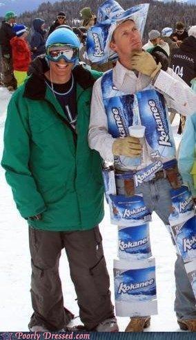 beer canadian cardboard suit tuxedo weird - 4626502144