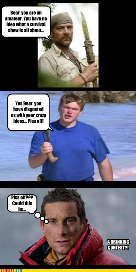 bear grylls,celebutard,discovery channel,survival