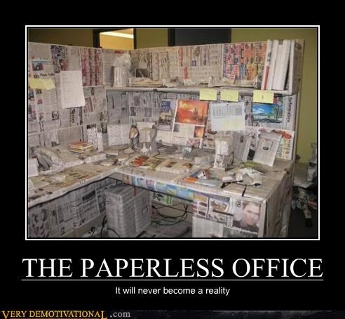 newspaper Office paperless prank