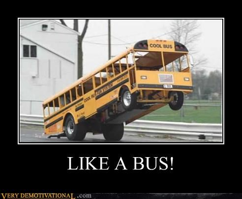 awesome buss Like a Boss wheelie