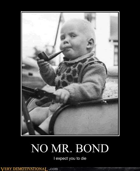 awesome baby james bond pipe villain - 4627295744